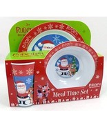 Rudolph the Red Nosed Reindeer 3 Piece Meal Time Dish Set - $39.99
