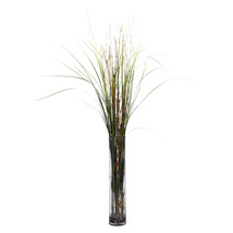 Grass & Bamboo w/Cylinder Silk Plant - $78.64