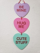 "Valentines Day Conversation Heart Hanging Sign Decor Decoration 20"" - $12.99"