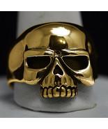 New Authentic 10K Gold Biker Jewelry Skeleton punisher skull ring Pick y... - $674.99