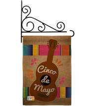Celebrate Guitarron Cinco De Mayo Burlap - Impressions Decorative Metal Fansy Wa - $33.97