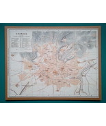 "SPAIN Granada City Town Plan - 1911 MAP 10 x 13"" (25 x 33 cm) - $26.96"