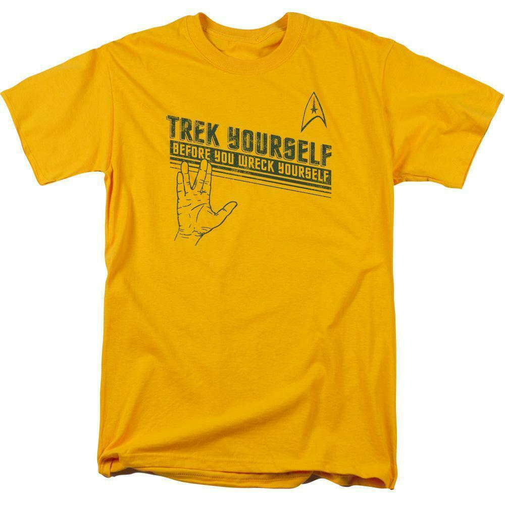 "Star Trek t-shirt ""Trek Yourself"" retro sci-fi TV series graphic tee CBS1109"