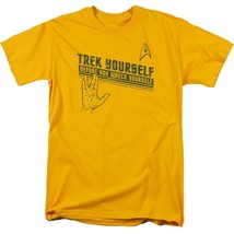 "Star Trek t-shirt ""Trek Yourself"" retro sci-fi TV series graphic tee CBS1109 image 1"