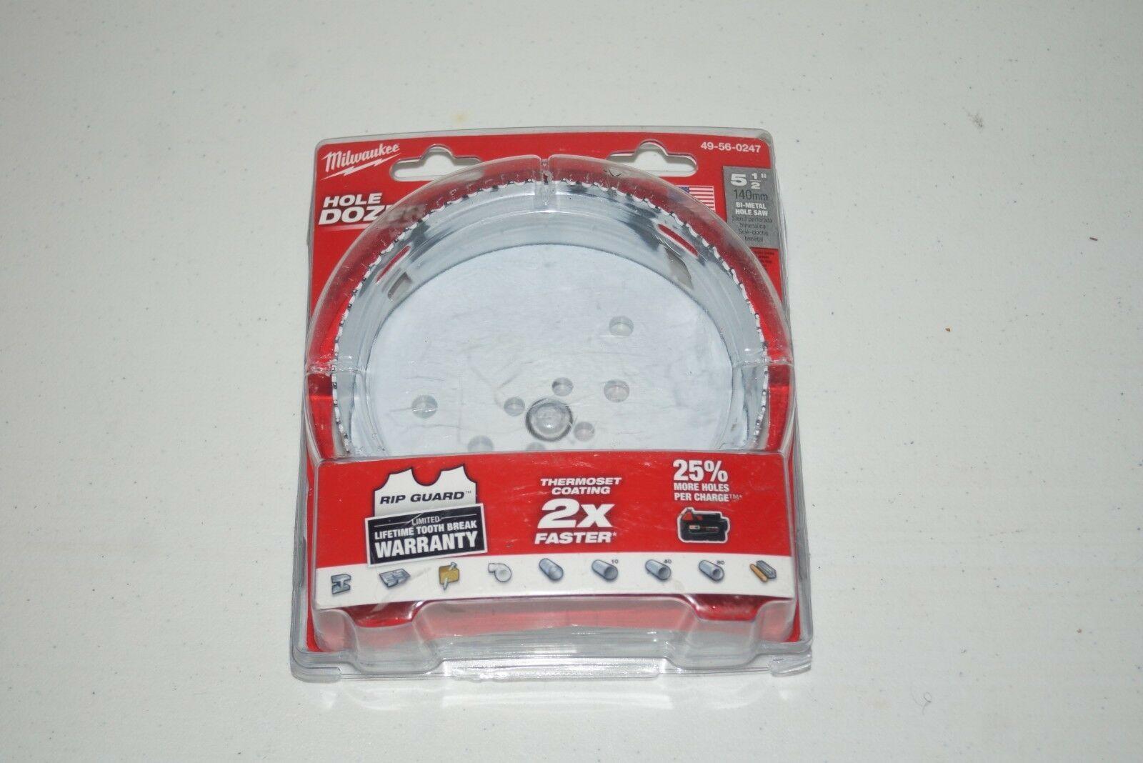"Milwaukee Hole Dozer 49-56-0173 3/"" 76mm Bi-Metal Hole Saw Used U56"