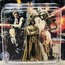 Star Wars Darth Vader Metal Die Cast Key Chain Placo Product Vintage Nov... - $8.89