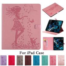 K25) Leather wallet FLIP MAGNETIC BACK cover Case for Apple iPad models - $106.32