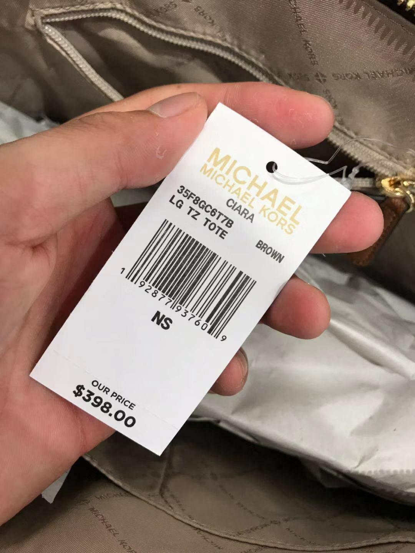 NWT MICHAEL KORS CIARA LARGE TOP ZIP TOTE BAG $398