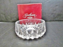 "GORHAM Althea Crystal Bowl 4.5"" Style c160 Germany Heavy Cut Lead Crystal - $29.80"