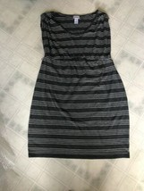 Motherhood Maternity Striped Scoop neck Knit Dress Cap Sleeves Size Large - $18.51