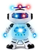Digital Dancing Warrior Toy Robot Figure with Colorful Rotating Lights M... - $31.17