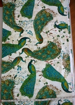 1/2 yard colorful Peacocks/birds cotton quilt fabric -free shipping image 2