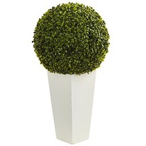 "Nearly Natural Artificial Plant Indoor/Outdoor 28"" Boxwood Topiary Ball ... - $121.39"