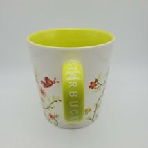 2007 Starbucks 12 oz. Coffee Tea Mug Cup Orange Flowers and Butterflies - $9.85