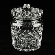 Waterford Cristal Lismore Biscuit Tonneau Et Couvercle En Original Boite - $208.04