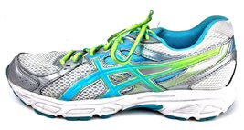 Asics Womens Gel Contend 2 Running Shoes Size 9.5 Sneakers T474N Silver Teal image 3