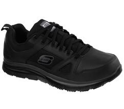 77040 Large Noir Skechers Chaussure Travail Hommes Mousse à Mémoire de F... - $55.62