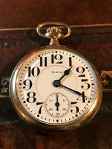1921 ELGIN B.W Raymond 455 Gold Filled Pocket Watch Size 16 19 Jewel RUN... - €340,24 EUR