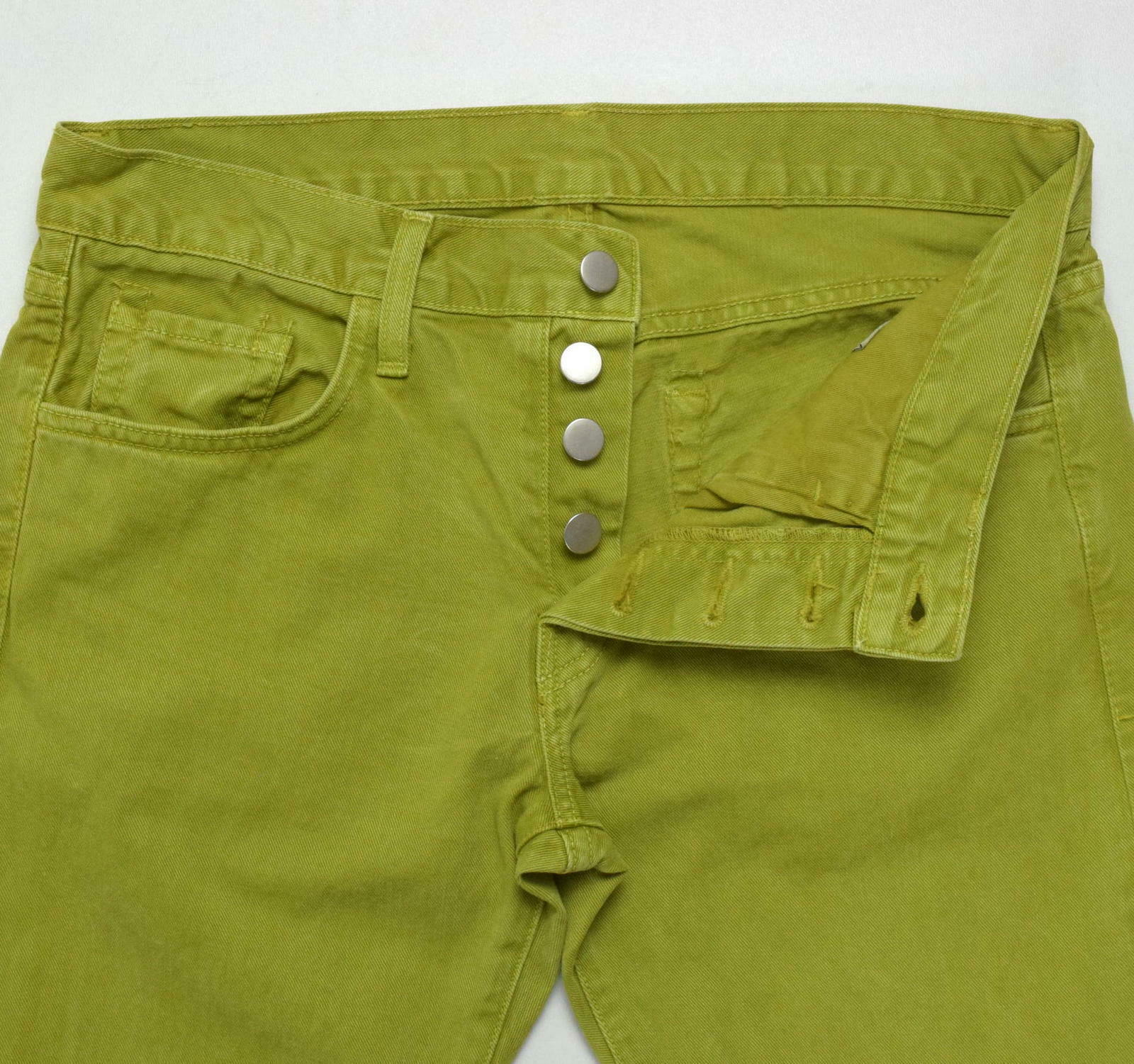 J Brand Green Denim Button Fly Jeans Pants Boot Cut Womens Size 32 x 32.5 image 5