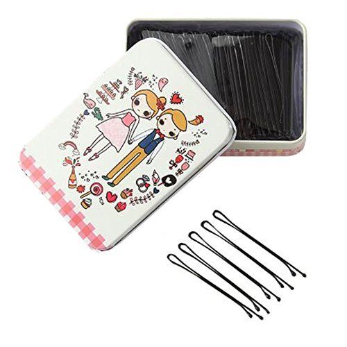 Primary image for Black Bobby Pins Slides Hair Clips Kirby Grips Clamps Salon Hairdressing Hairpin
