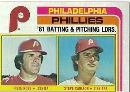 1982 Topps Steve Carlton/ Pete Rose Philadelphia Phillies #636 Baseball ... - $1.97