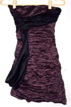 BCBG Max Azria Womens Dress Small Purple Strapless Sash Metallic Ruched ... - $49.99