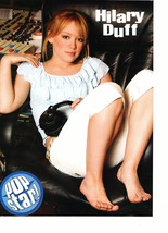Hilary Duff teen magazine pinup clipping barefoot holding head phones Bop
