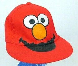 Elmo Sesame Street Red Baseball Cap Hat Adult Sz S Box Ship - $11.99
