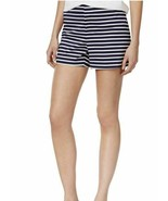 Maison Jules Womens Chino Striped Shorts blue notte combo - $12.80