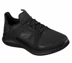 Skechers shoe Black Men Memory Foam Comfort Sport Train Mesh Casual Slip... - $39.99