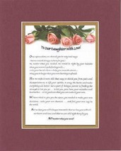 Touching and Heartfelt Poem for Daughters - To Our Daughter with Love Forever Po - $15.79