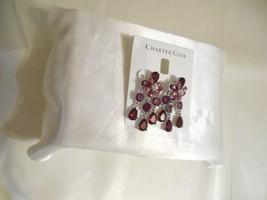 "Charter Club 2"" Silver Tone Crystal Jeweled Dangle Drop Earrings R710 $39 - $16.31"