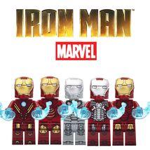 Marvel Iron Man Armor suit Collection Mk2 Mk3 Mk4 Mk5 Mk8 Lego Minifigures Gift - $1.99