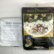 Dimensions Gold Collection Santa's Wildlife Tree Skirt & Stocking Kit 85... - $220.50