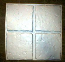"Concrete Tile Molds Make 13""x13"" Custom Chiseled Stone Tiles @ 30 Cents Each image 3"