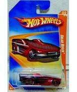 HOT WHEELS 2009 TRACK STARS  SOLAR REFLEX RACE Car BLack Red Wheels  P2376 - $7.99