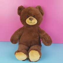 "Build A Bear Workshop Plush Brown Teddy Bear BABW Stuffed Animal 14"" 2014 - $18.81"