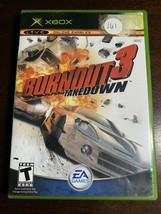 Burnout 3: Takedown (Microsoft Xbox, 2004) Video Game + Case - $8.79