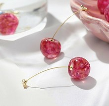 Cherry Modelling Acrylic Fashion Geometric Fine Women Drop Earrings New ... - $2.96