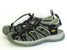 Keen Whisper Womens Sz 9.5 Sandals Waterproof Black Grey Walking Hiking ... - $39.54