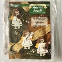 Needlecraft Shop MUSICAL ANGELS Plastic Canvas Kit Music Christmas Ornam... - $4.95