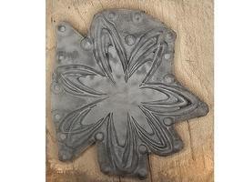 Magenta Flower Rubber Stamp #23605J image 2