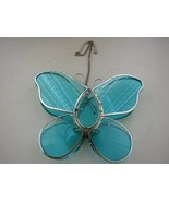 Wonderful, Hanging Blue Glass Butterfly Tea Light or Candle Light - $23.70