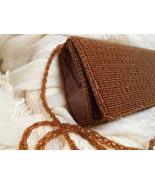 Vintage Bijoux Terner Copper Brown Beaded Evening Bag Clutch Shoulder St... - $9.00