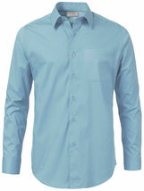 Men's Solid Long Sleeve Formal Button Up French Convertible Cuff Dress Shirt image 11