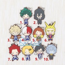 My Hero Academia Boku no hero academia Latest Ver Rubber Strap Keychain Charm  - $4.84+