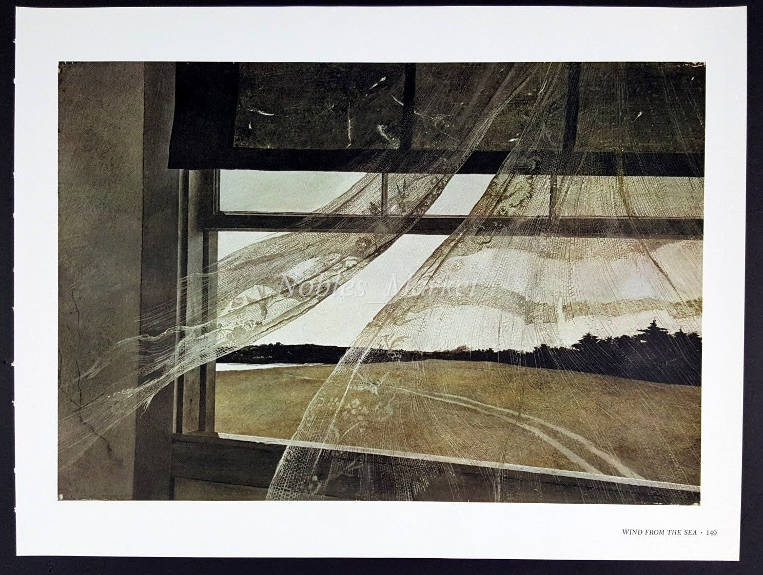 Andrew Wyeth Gravure Print WIND FROM THE SEA, Olson's