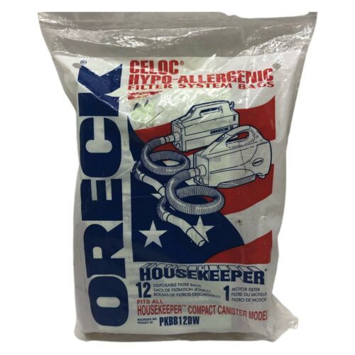 ORECK Housekeeper Compact Canister Hypo Allergenic Filter Bags 12 pack - $14.99