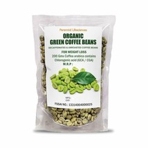 Organic Decaffeinated Green Coffee Beans for Weight Loss 200GMS Pack of 2 - $18.91