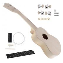 21 Inch Ukulele DIY Kit Hawaii Guitar Wooden Instrument Handwork Paintin... - $31.47